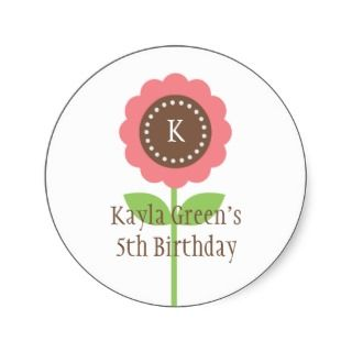 Precious Blooms Favor Sticker or Gift Tag Sticker