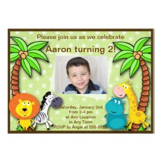 Safari Jungle Animal Birthday or Shower Invitation