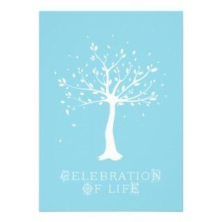 Celebration of Life   Custom   Elegant Tree Motif Invite