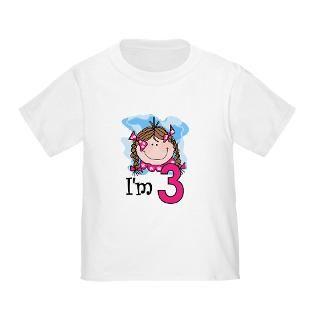 Brunette Girl Toddler T Shirt  Miscellaneous Baby T shirts