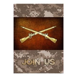 Infantry Branch Insignia Custom Invitations