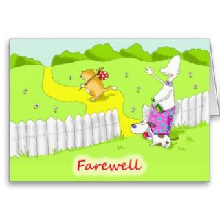 Farewell goodbye coworker greeting cards from Zazzle