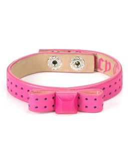 Juicy Couture Bow Stud Leather Bracelet