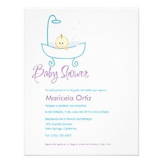 in Tub, Invitaciones de Baby Shower invitations by QuePartyTanFancy