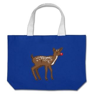 Christmas Rudolph the Red Nosed Reindeer Canvas Bag