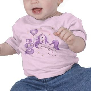 Pretty Pony 2nd Birthday Tee Shirt