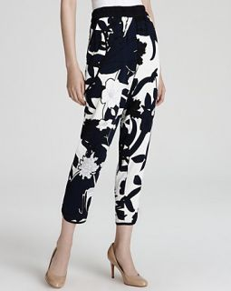 Escada Trousers   Mucha Floral Printed Jersey