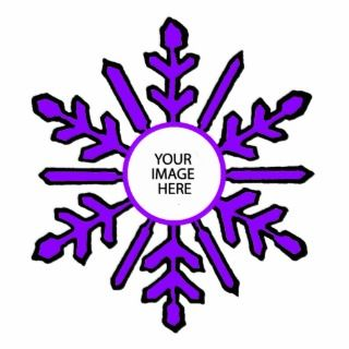 Christmas Tree Ornament Snowflake 1 Purple White Cut Out