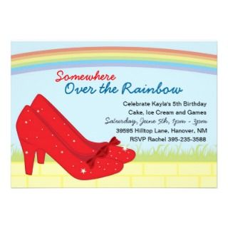 Ruby Slippers Birthday Party Invitations
