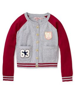 Juicy Couture Girls Preppy Letterman Sweater   Sizes 7 14