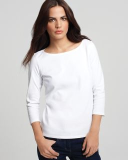 eileen fisher petites boatneck tee price $ 58 00 color white size