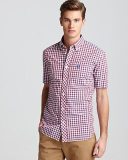 Fred Perry Gingham Short Sleeve Sport Shirt   Classic Fit