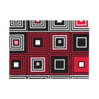 Red White black retro mod pattern Envelopes