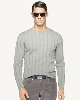Ralph Lauren Black Label Merino Wool Ribbed Crewneck Sweater