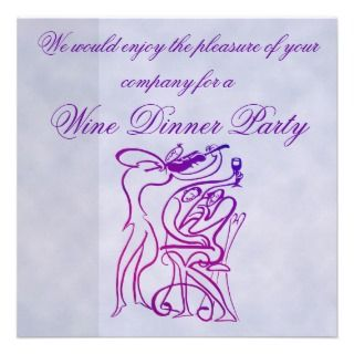 Wine Dinner Party Invitation