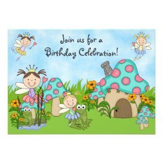 Fairy Princesses and Frogs Birthday Invitation