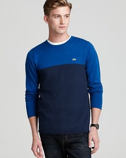 Lacoste Merino Wool Jersey Color Block Sweater