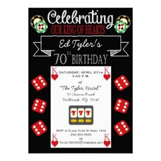 Casino Theme Party Invitations, Announcements, & Invites