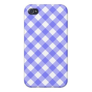 Pastel Blue Gingham iPhone 4 Case iphone cases by tjustleft