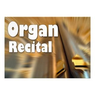 Invitation to an organ recital   Sydney pipes