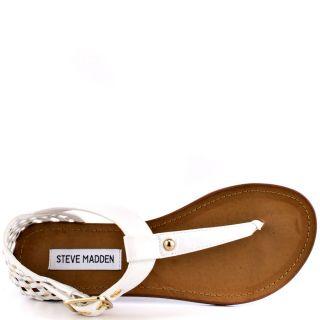 Steve Maddens White Suttle   White Multi for 64.99
