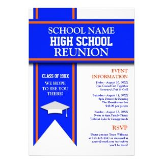 High School Class Reunion Personalized Invitation