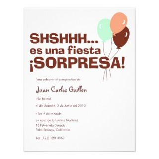 Party Sorpresa invitations by QuePartyTanFancy