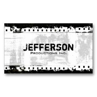Film Noir Grunge Style Company Business Card
