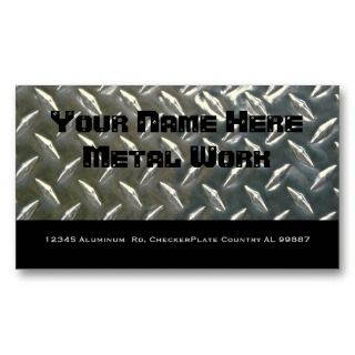 Sided Aluminum Metal for Mechanic or ? Business Cards