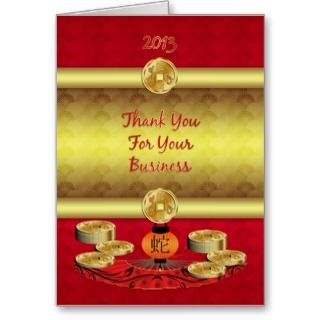 business thank you greeting card for the Chinese New Year or to say
