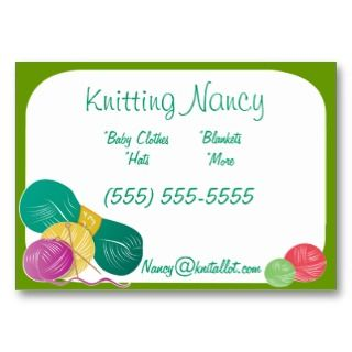 at home business knitting then you need these customizable business