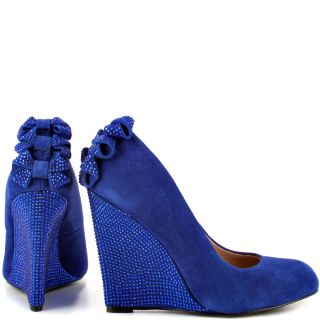 Betsey Johnsons Blue Chhase   Blue Suede for 129.99