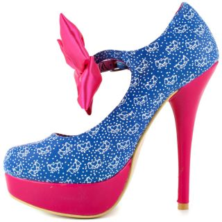 Iron Fists Multi Color Bow Me Platform   Blue Star for 49.99