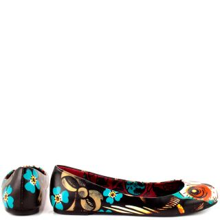 Iron Fists Multi Color Lucky Lucy Flat   Black for 39.99
