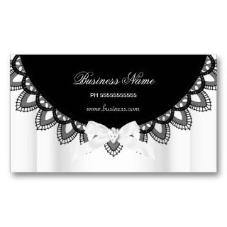 Black & White Lace Elegant Business Business Card Template