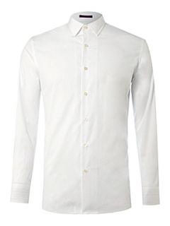 Paul Smith London Long sleeved single cuff slim fit shirt White