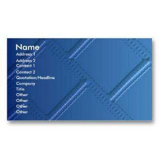 Metallic Blue Business Card