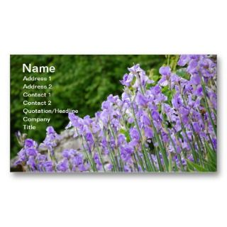 Blue iris flowers603 PURPLE BLUE FLOWERS FLORAL HI Business Cards