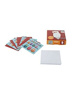 Almanac Christmas owls box of 20 cards
