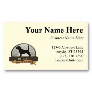 Beagle Business Card Templates
