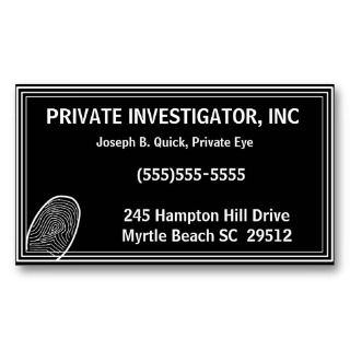 Private investigator service start up sample business plan new for Sample private investigator business cards