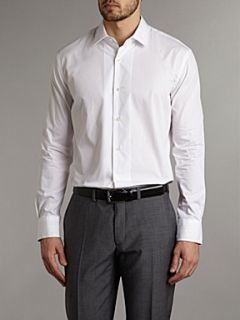Paul Smith London Long sleeved single cuff slim fit shirt White