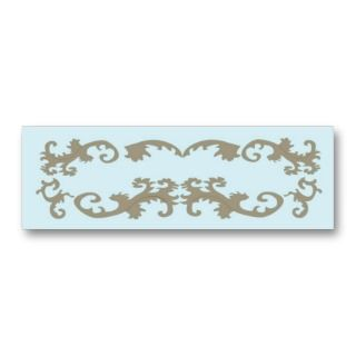 Blue Lace Elegant Business Card
