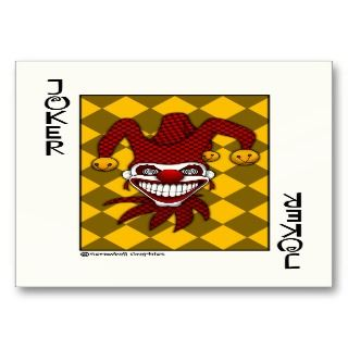 Joker Playing Card Business Cards