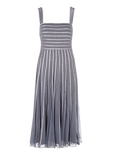 Jacques Vert Tick tack spot prom dress Grey