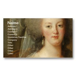Marie Antoinette, Queen of France Business Card