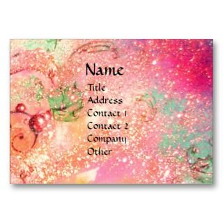 OF DAWN / MAGIC SPARKLES IN PINK GOLD EAL BUSINESS CARD EMPLAES
