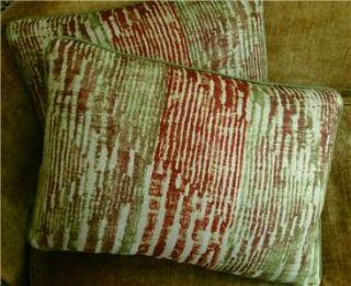 Rubelli Bises Linen Fabric Custom Designer Throw Pillows New Set of 2