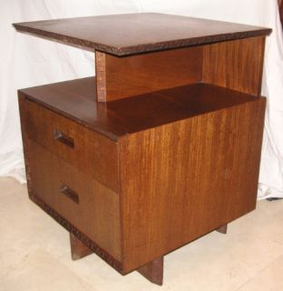 RARE 1955 Frank Lloyd Wright Heritage Henredon End Side Table