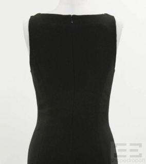 Karl Lagerfeld Black Mesh Panel Sleeveless Evening Dress Size 38